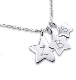 KAYA jewellery Silver Necklace '3 Stars engraving'