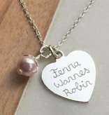 KAYA jewellery Personalized Necklace 'Lovely' 20x20 mm