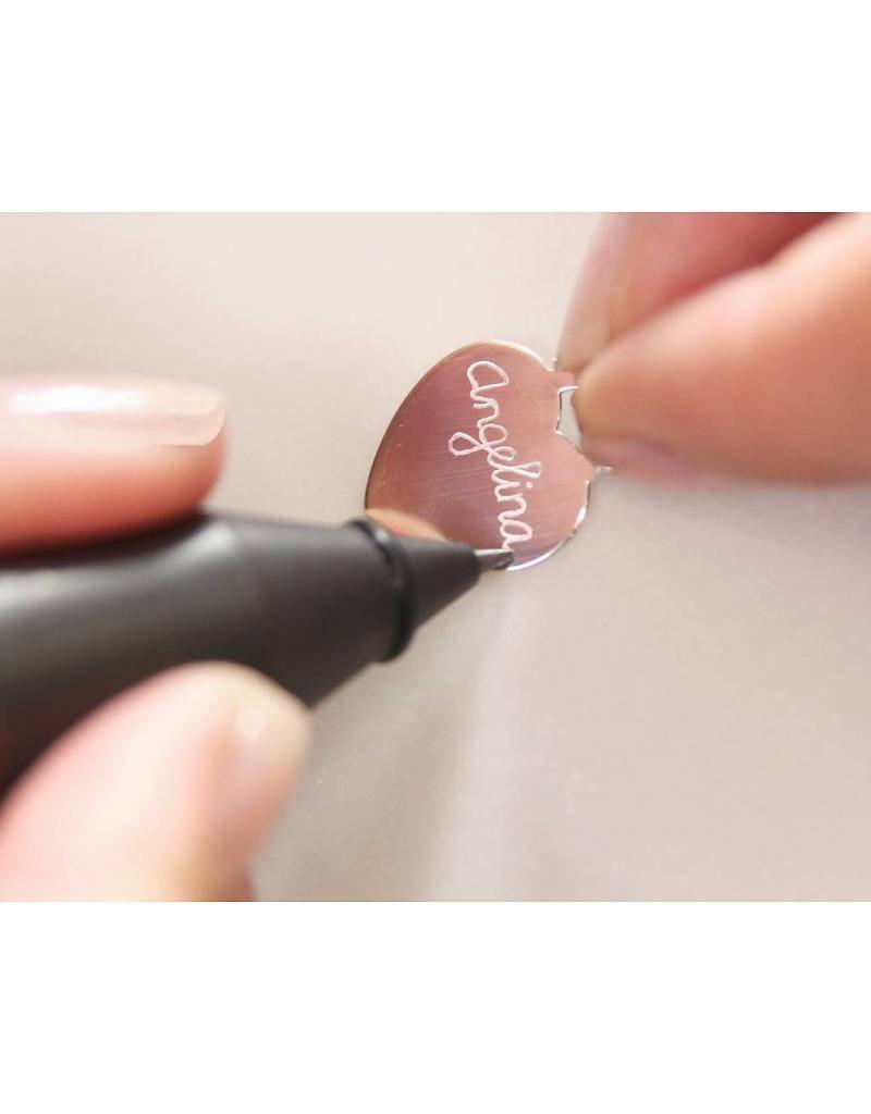 KAYA jewellery Engraved 'Baby Feet' on Birth Necklace