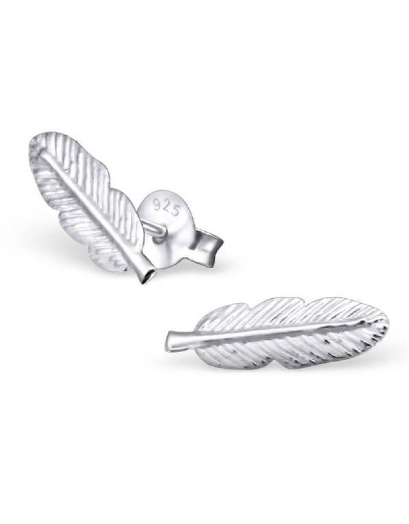 KAYA jewellery Kids Silver Earrings 'feathers'