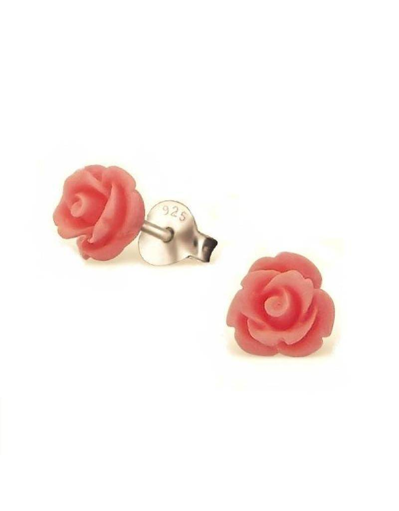 KAYA jewellery Children's Silver Ear Studs 'Cute Roses'