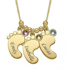 KAYA jewellery Birthstone Gold Necklace 'three children'