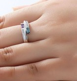 KAYA jewellery Birthstone ring with two names 'classy'