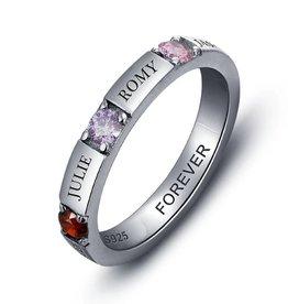 KAYA jewellery Birthstone ring '4 names''