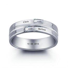 KAYA jewellery Ring with 2 names 'shine'