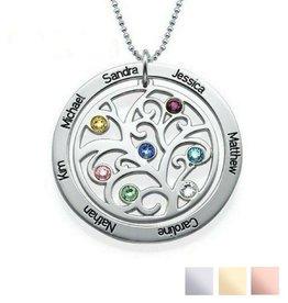 KAYA jewellery Birthstone necklace 'family tree'