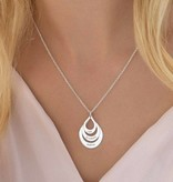 KAYA jewellery Silver necklace with engraving 'raindrop'