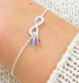 KAYA jewellery Infinity bracelet with Swarovski® birth crystals