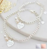 KAYA jewellery Two bracelets 'cute balls' with engraved charm