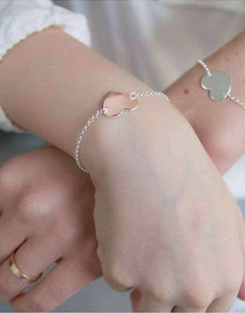 KAYA jewellery Sterling silver bracelet 'memory' birth crystal & personalised charm