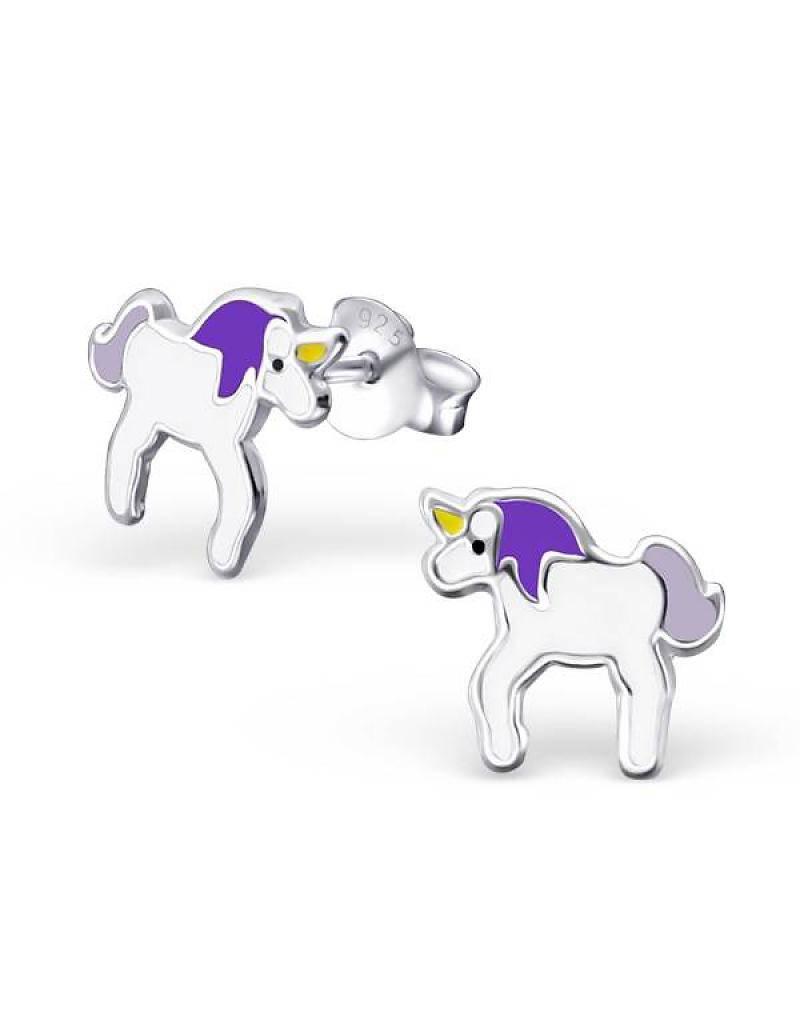 KAYA jewellery Kids Silver Earrings 'little unicorn'