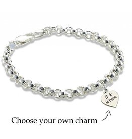 "KAYA jewellery Silver Chain Bracelet ""Select Text"""