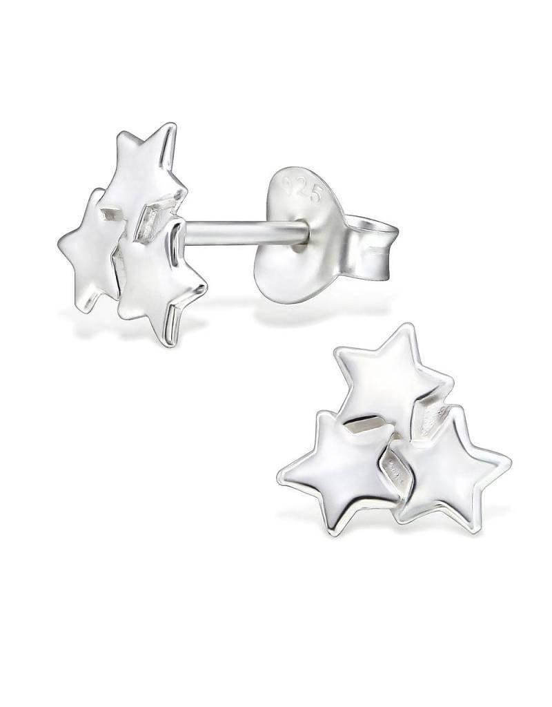 KAYA jewellery Silver Earrings 'twinkel stars'