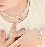 KAYA jewellery Cute Girls Bracelet 'Infinity Pink' Pearls & Crystals