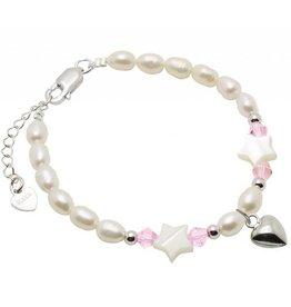 KAYA jewellery Silver Mum Bracelet 'Little Star' Heart Charm