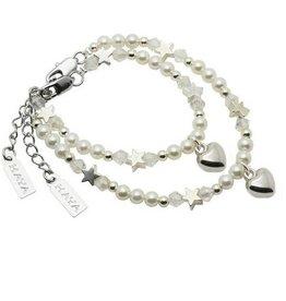 KAYA jewellery Mom & Me bracelets 'White Star' with heart