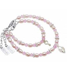 KAYA jewellery Mum & Me Bracelet 'Infinity Pink' with Key to my Heart