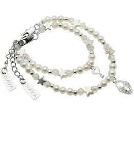 KAYA jewellery Mum & Me Bracelet 'Infinity White' with Key to my Heart