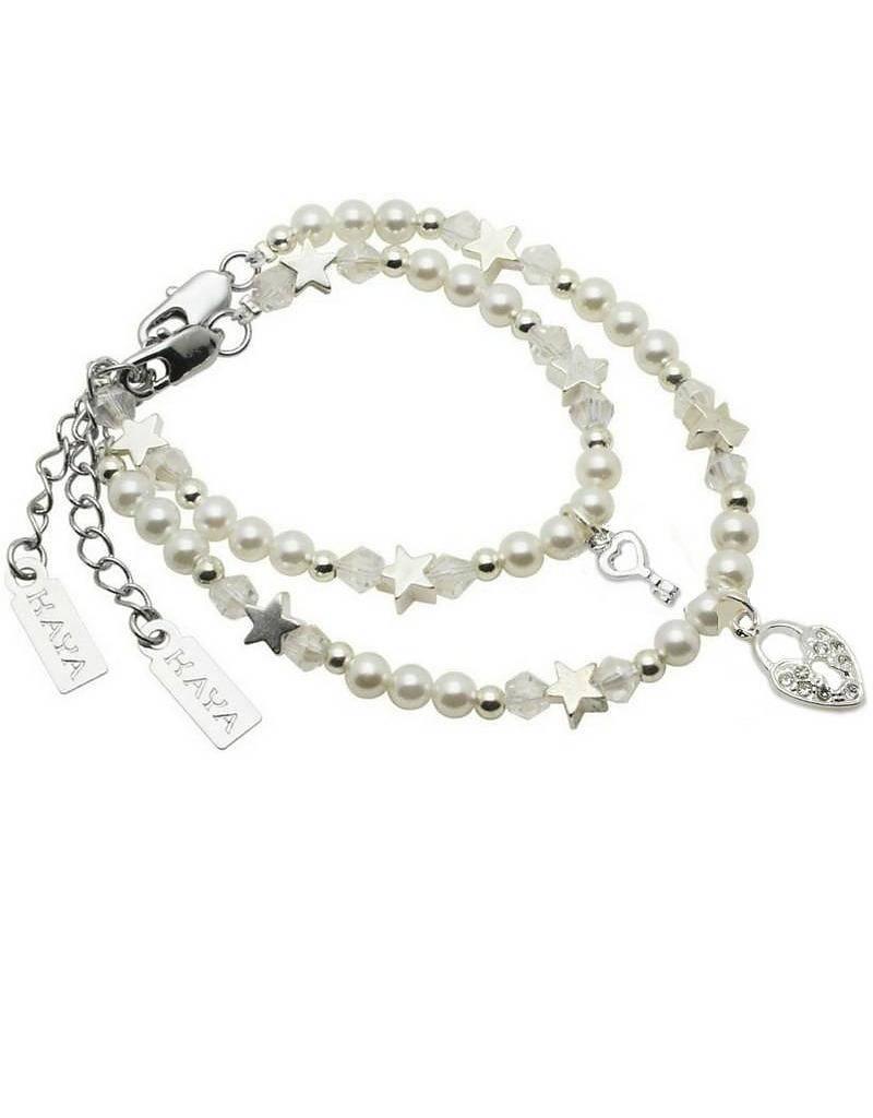15ab4947645 Mother & Daughter Pearl & Crystal Bracelets, Mum & Me bracelet