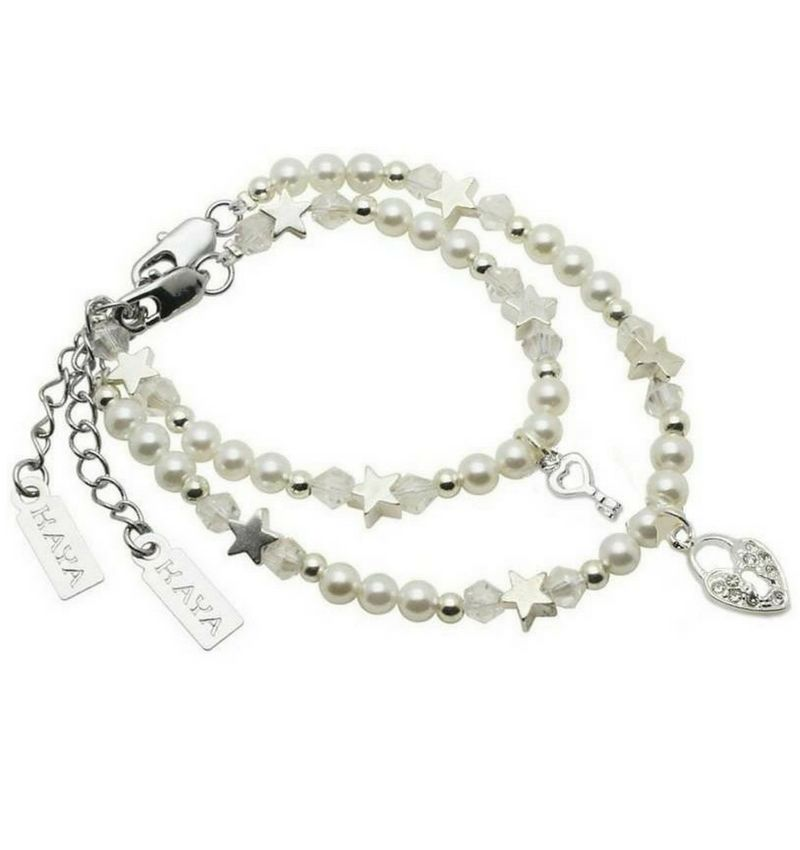 KAYA jewellery Key to my Heart Mum & Me Bracelet 'Star White'