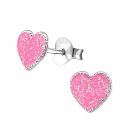 KAYA jewellery 'Cute Sparkle Heart' Stud Earrings