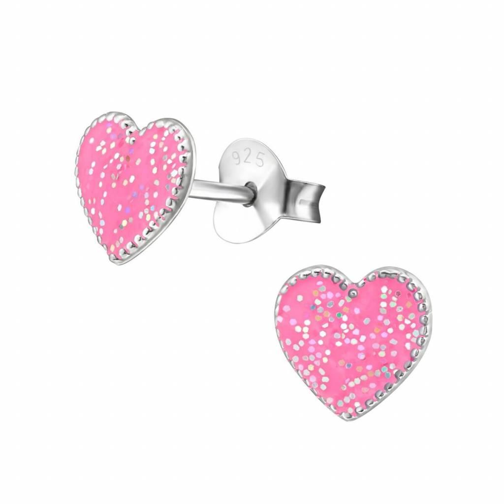 KAYA jewellery 'Cute Sparkle Heart' Stud Earrings