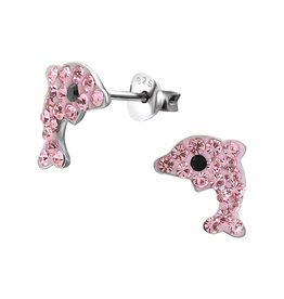 KAYA jewellery 'Crystal Pink Dolphin' Stud Earring