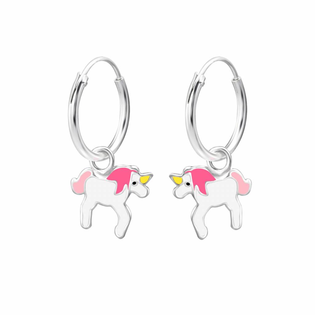 KAYA jewellery 'Silver Pink Unicorn' Earrings