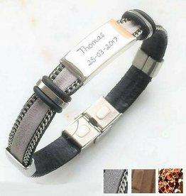 KAYA jewellery Personalized stainless steel bracelet 'cool gray'