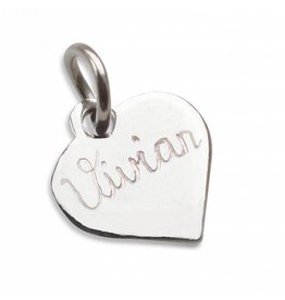 KAYA jewellery Silver pendant Hand-engraved 'Lovely Heart'