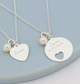 KAYA jewellery Silver Mom & Me Necklaces 'In My Heart'