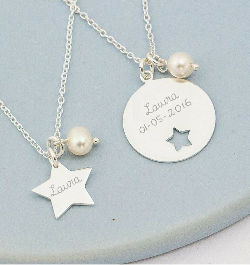 KAYA jewellery Silver Necklaces Mom & Me 'You are my Star'