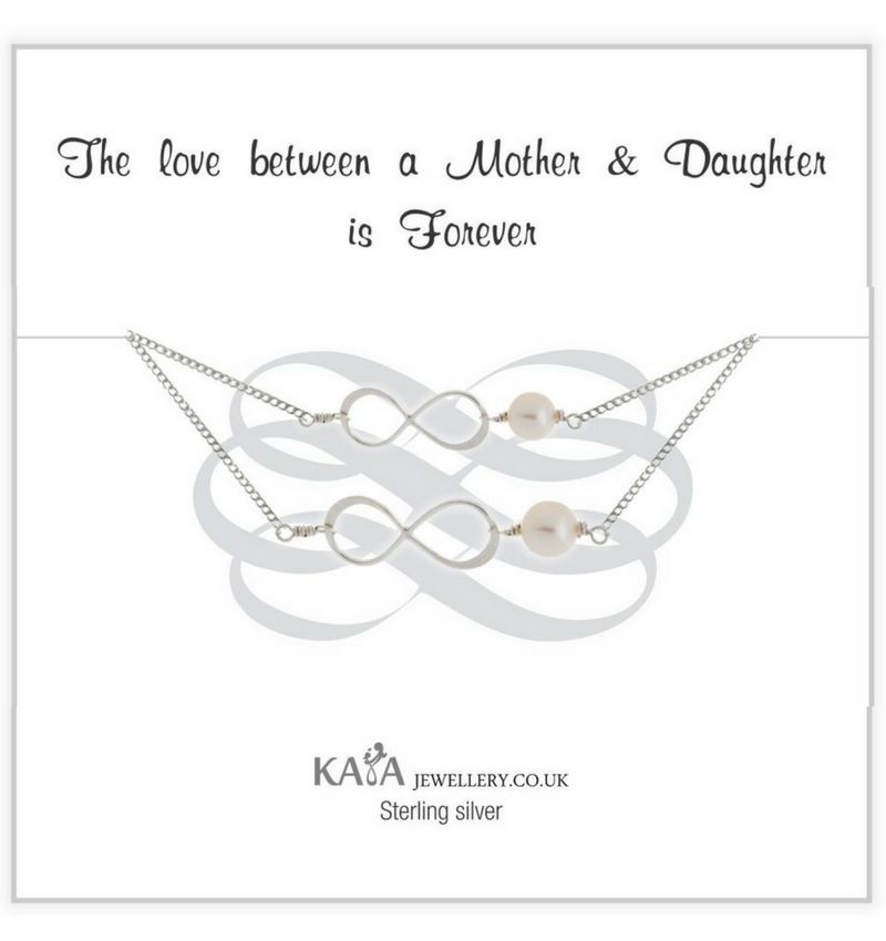 KAYA jewellery Silver Mother and Daughter Set 'Speechless'