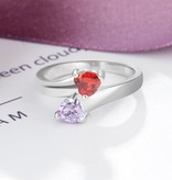 KAYA jewellery Ring with 2 birthstones 'Me & You'