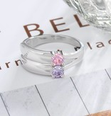KAYA jewellery Ring with 2 birthstones 'Graceful'