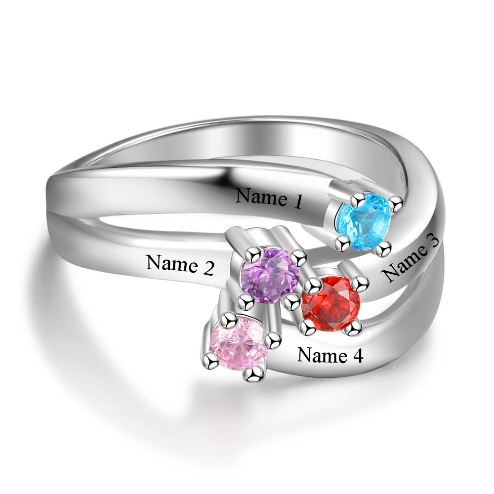 KAYA jewellery Classy birthstone ring 'Close To Me'