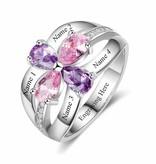 KAYA jewellery Classy birthstone ring 'Flawless Flower'