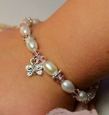 KAYA jewellery Girls Bracelet 'Infinity Pink' with Butterfly Charm