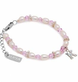 KAYA jewellery Girls Bracelet 'Infinity Pink' Silver Initial Charm