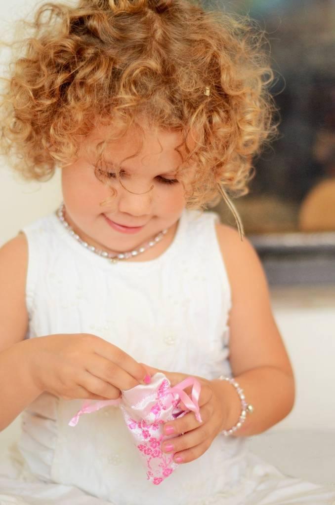 KAYA jewellery Beautiful Mum & Me Bracelet 'Infinity Pink' with Silver Crown Charm
