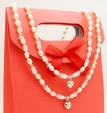 KAYA jewellery Mum & Me Pearl Necklace 'Infinity Pink' with Heart