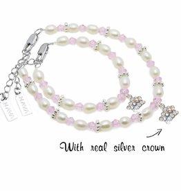 KAYA jewellery Mum & Me Bracelet 'Infinity Pink' with Silver Crown