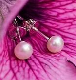 KAYA jewellery Sterling Silver White Pearl Earrings