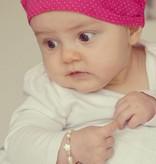 KAYA jewellery Silver Girls Bracelet 'Little Star' with Initial & Heart Charm