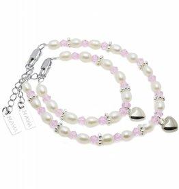 KAYA jewellery Mum & Me Bracelet 'Infinity Pink' with Heart