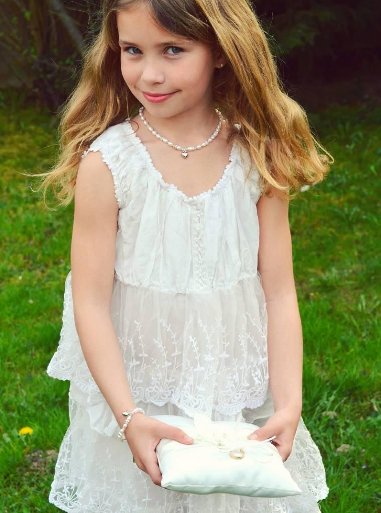 KAYA jewellery Girls Necklace & Bracelet Set 'Infinity White' with Butterfly