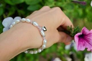 KAYA jewellery Silver women's Bracelet 'Little Diva' with Initial Charm