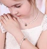 KAYA jewellery Girls Jewellery Set with earrings 'Infinity Pink' with Heart