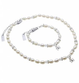 KAYA jewellery Girls Jewellery Set 'Infinity White' with Butterfly