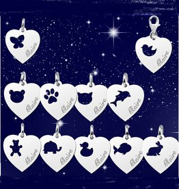 KAYA jewellery Silver Names4ever Heart Charm 'Engrave your name'